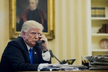 president donald trump on phone