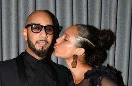 Swizz Beatz and Alicia Keys speak on stage at the 2017 Brooklyn Artists Ball at Brooklyn Museum on April 3, 2017 in New York City.