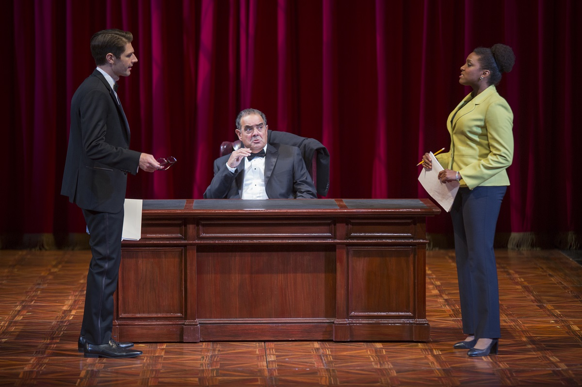 (L-R) Brett Mack, Edward Gero and Jade Wheeler in The Originalist at The Pasadena Playhouse. // Photo by Jim Cox Photography
