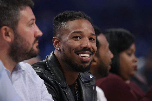 Michael B Jordan attends the 2017 Taco Bell Skills Challenge at Smoothie King Center on February 18, 2017 in New Orleans, Louisiana.