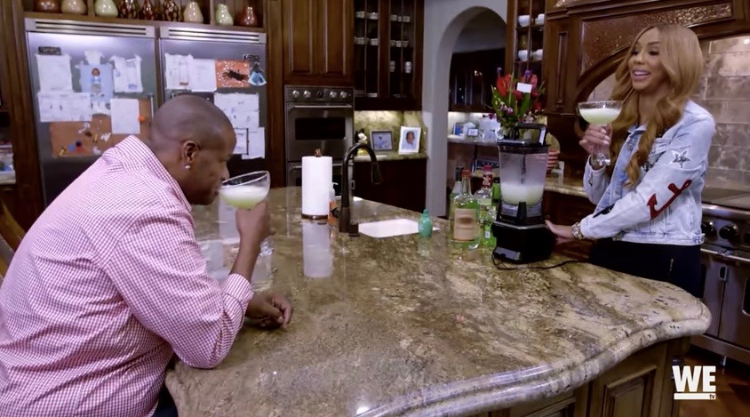 """Vincent Herbert and Tamar Braxton in a scene from """"Braxton Family Values"""""""