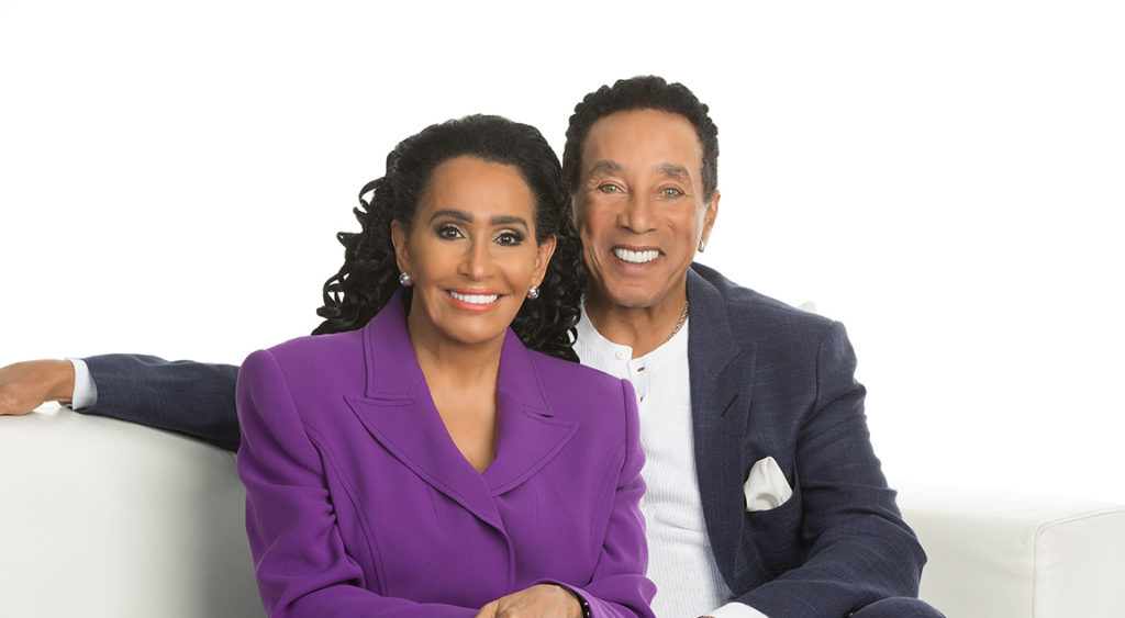 Smokey Robinson and wife Francis