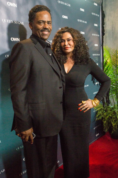 "Richard Lawson (L) and Tina Knowles Lawson attend a cocktail reception for ""Queen Sugar"" at Liberty Kitchen on July 2, 2016 in New Orleans, Louisiana."