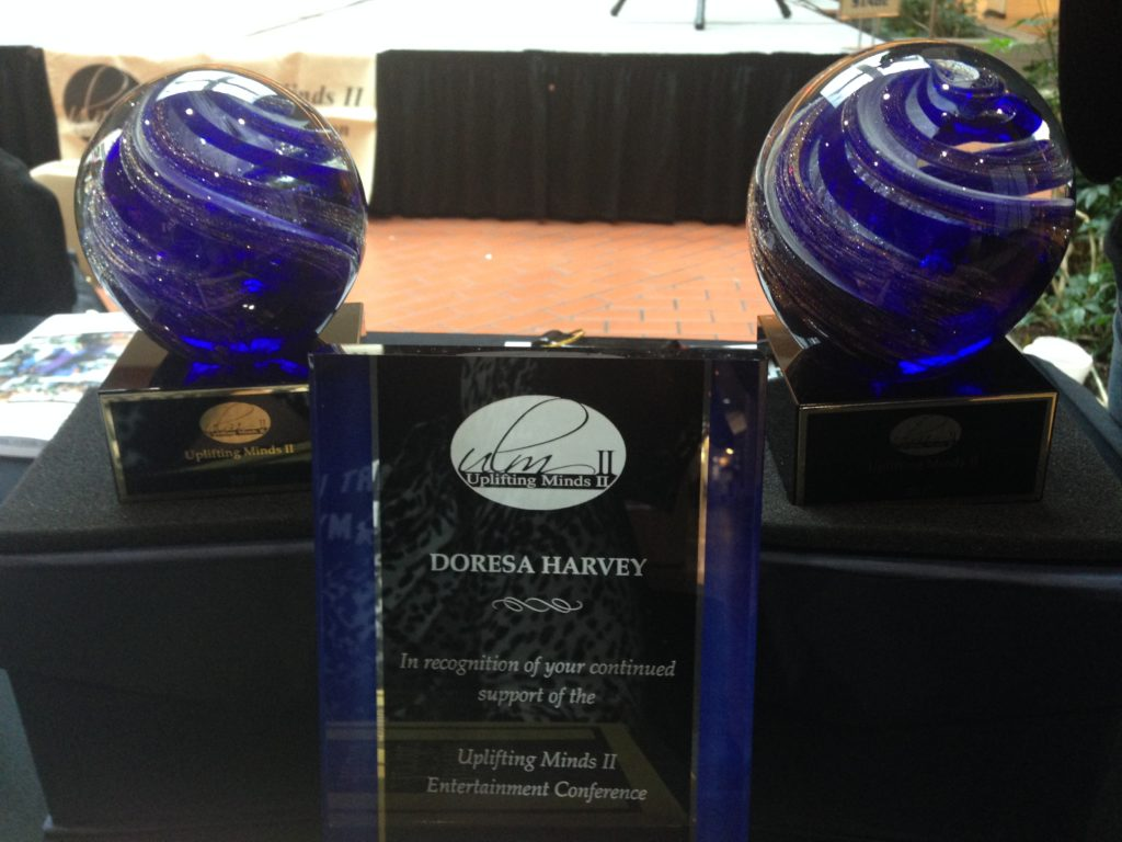 "The Baltimore 'ULMII"" talent competition winners' crystal ball award and the special honorary award for host Doresa Harvey (Heaven 600)."