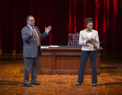 Edward Gero and Jade Wheeler in The Originalist at The Pasadena Playhouse. // Photo by Jim Cox Photography