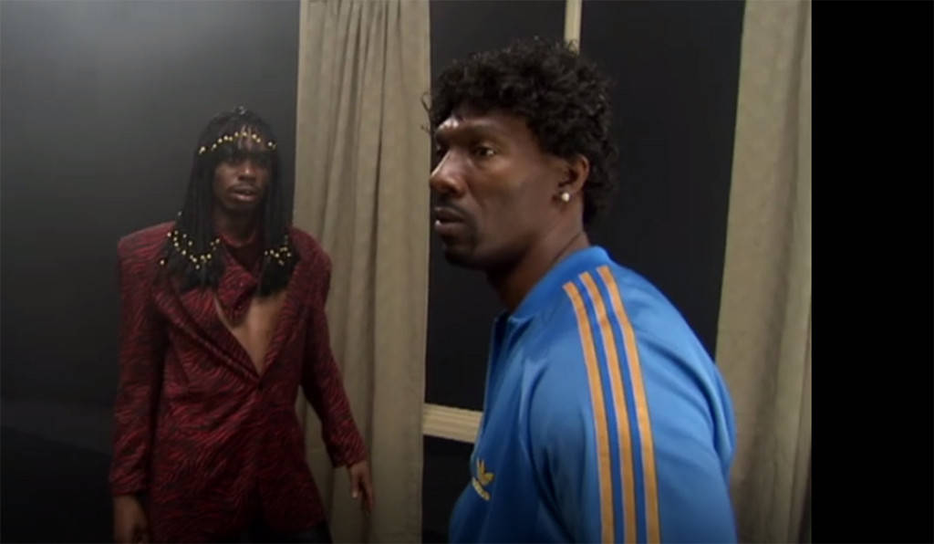 "Charlie Murphy (L), Dave Chappelle in ""Chappelle's Show"" Rick James Sketch"