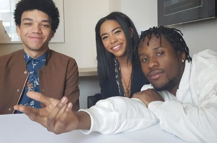 the get down (justice smith - herizen guardiola - shameik moore - marie moore photo)