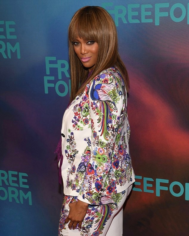 Tyra Banks was a showstopper when she trod the red carpet for the Freeform 2017 Upfront at Hudson Mercantile in New York City on April 19, 2017
