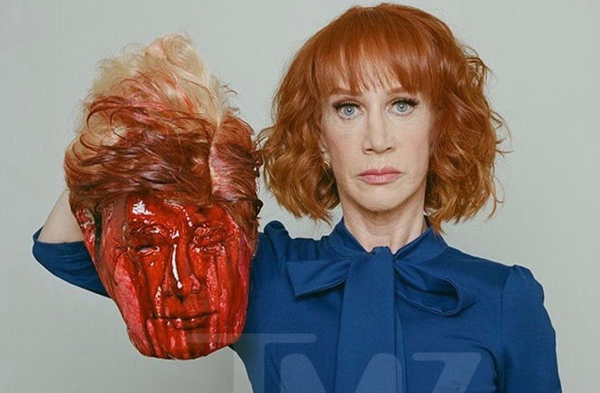 Kathy Griffin defends photo with bloody replica of President Trump's severed head