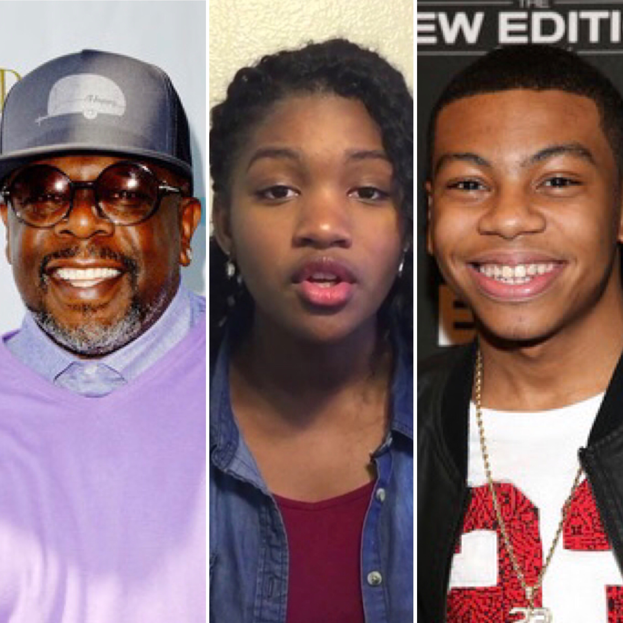 (L-R) Cedric the Entertainer, Taylor Mosby and Dante Hoagland