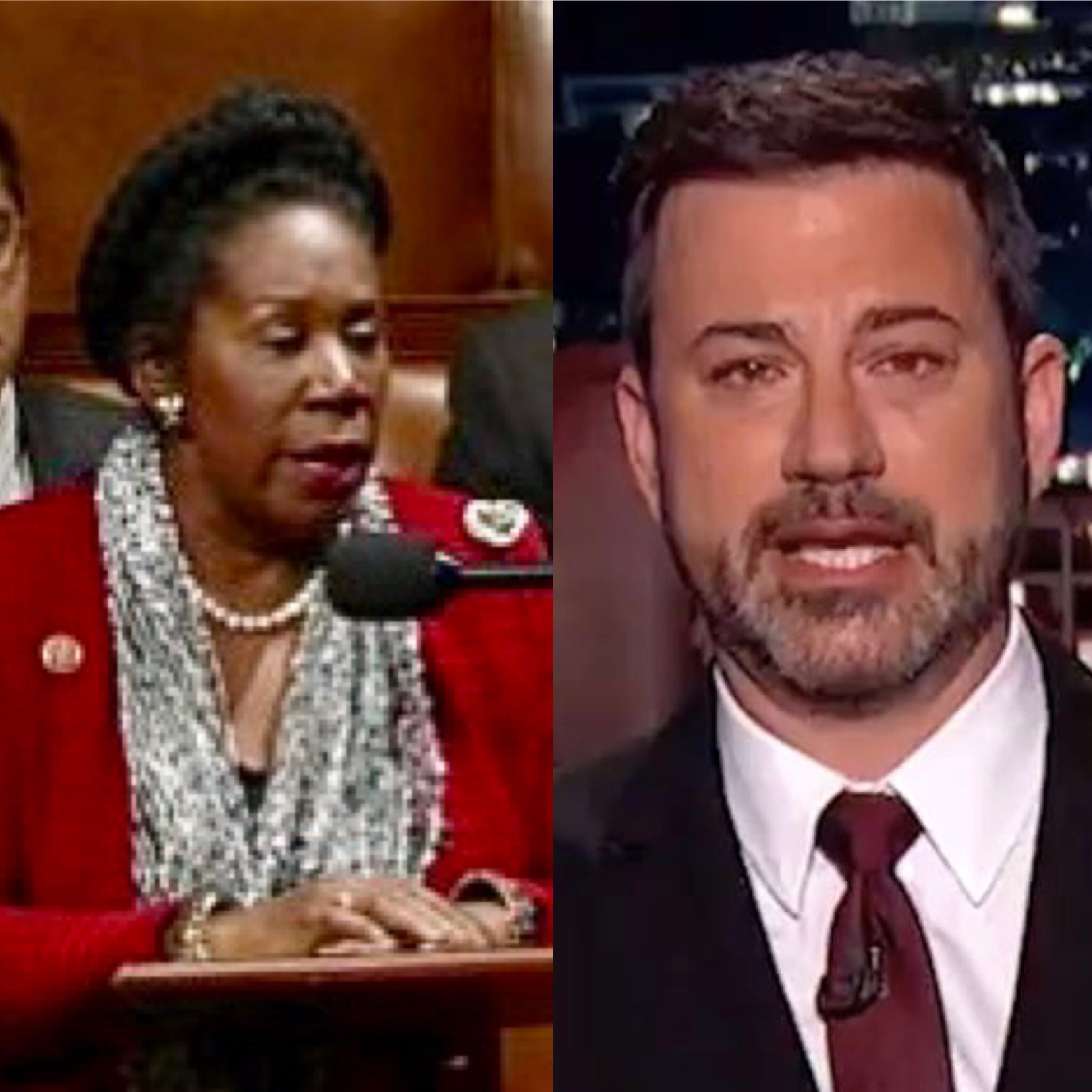 Rep. Sheila Jackson Lee and Jimmy Kimmel
