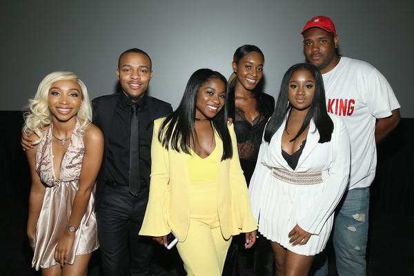 Zonnique Pullins, Shad Moss, Reginae Carter, Shaniah Mauldin, Ayana Fite and Brandon Barnes attend the WE tv's Growing Up Hip Hop Atlanta premiere screening event on May 16, 2017 in New York City.