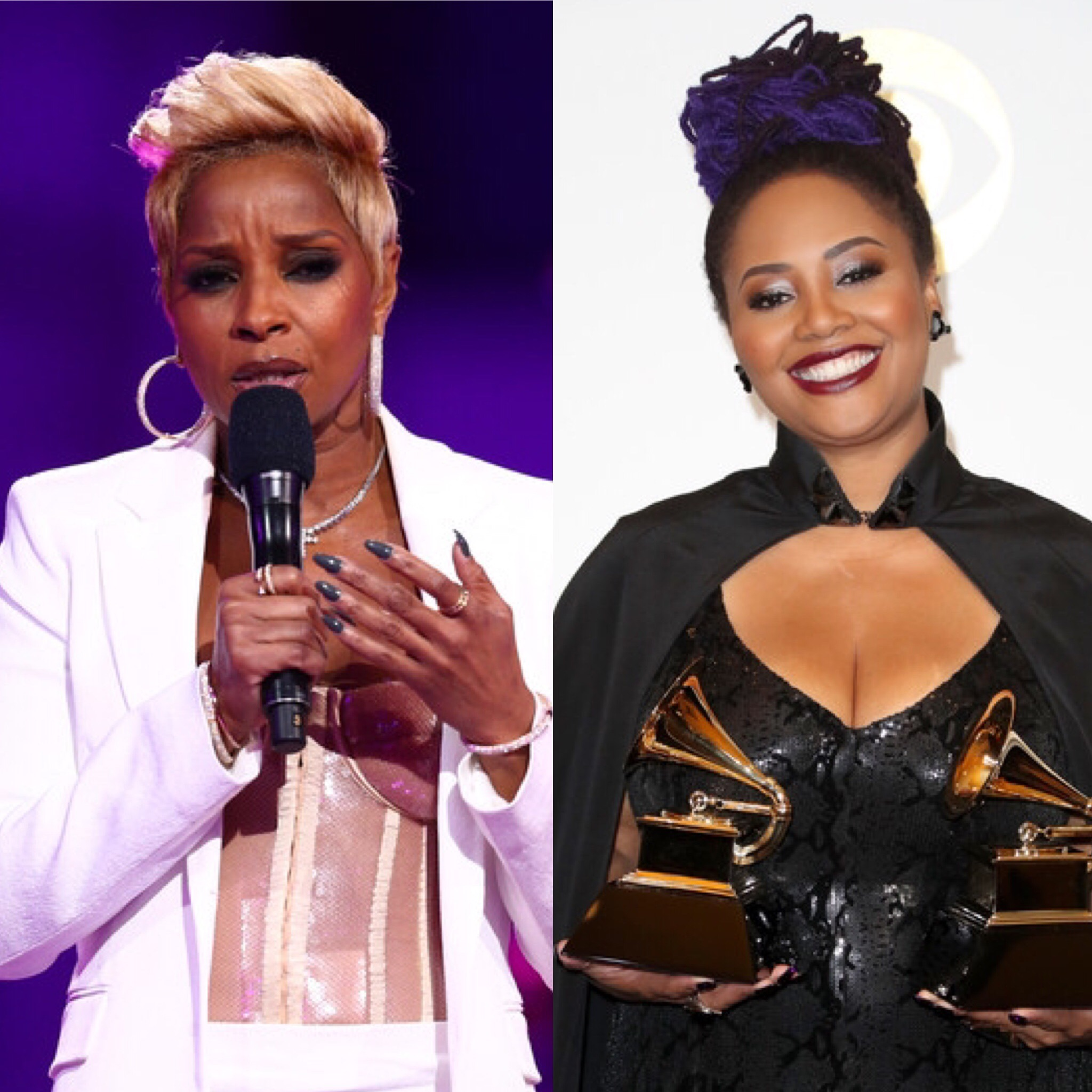 Mary J. Blige (L) and Lalah Hathaway (Getty Images)
