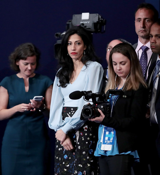 Hillary Clinton campain vice chairwoman Huma Adedin after the Presidential Debate at Hofstra University on September 26, 2016 in Hempstead, New York.
