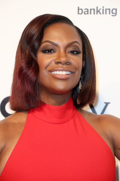 TV Personality Kandi Burruss attends the 25th Annual Elton John AIDS Foundation's Academy Awards Viewing Party at The City of West Hollywood Park on February 26, 2017 in West Hollywood, California.