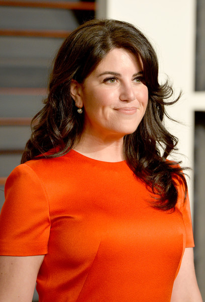Designer Monica Lewinsky attends the 2015 Vanity Fair Oscar Party hosted by Graydon Carter at Wallis Annenberg Center for the Performing Arts on February 22, 2015 in Beverly Hills, California.