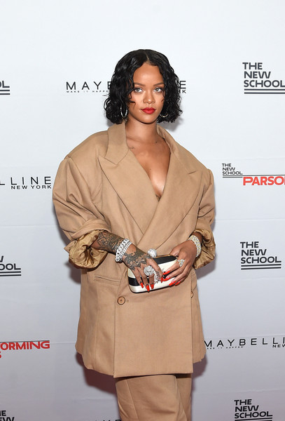Honoree Rihanna attends the 69th Annual Parsons Benefit at Pier 60 on May 22, 2017 in New York City.