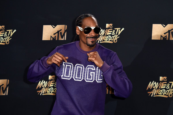 Snoop Dogg poses in the press room during the 2017 MTV Movie And TV Awards at The Shrine Auditorium on May 7, 2017 in Los Angeles, California.