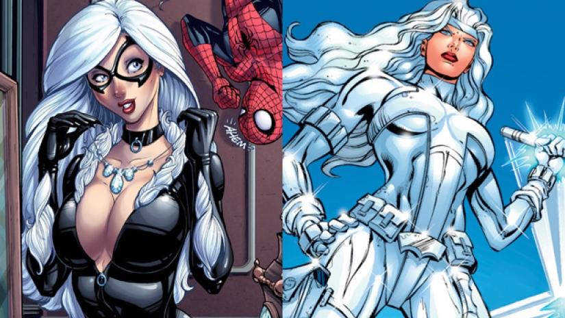 Black Cat (L) and Silver Sable