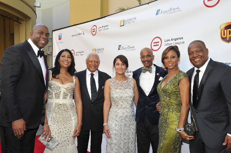 Magic & Cookie Johnson, John W. Mack, Dana Henry, Nolan Rollins, Holly Robinson-Peete and Rodney Peete