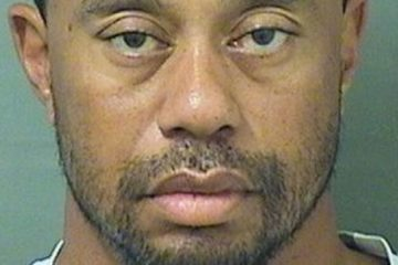 tiger woods - mugshot