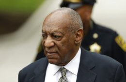 (AP Photo/Matt Slocum). Bill Cosby arrives for jury deliberations in his sexual assault trial at the Montgomery County Courthouse in Norristown, Pa., Thursday, June 15, 2017.