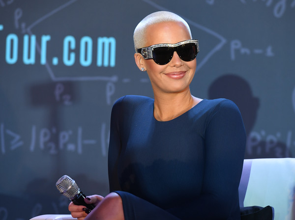 Amber Rose onstage at AHF Presents The Know Your Status Tour -Atlanta at Clark Atlanta Univeristy on April 20, 2017 in Atlanta, Georgia.