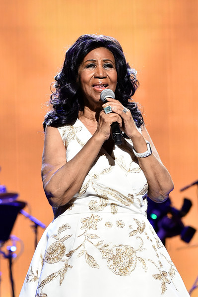 """Aretha Franklin performs onstage during the """"Clive Davis: The Soundtrack of Our Lives"""" Premiere Concert during the 2017 Tribeca Film Festival at Radio City Music Hall on April 19, 2017 in New York City."""