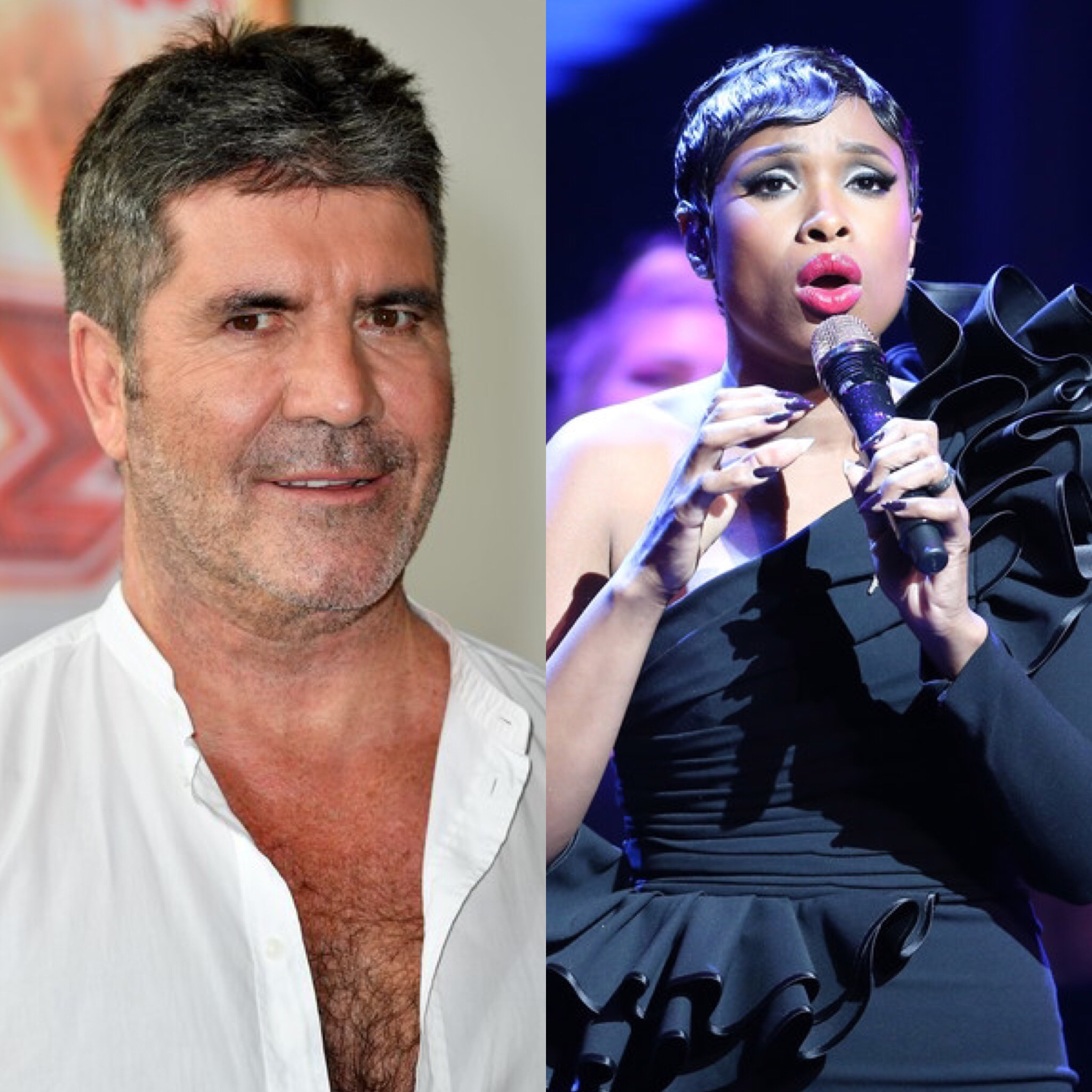 Simon Cowell and Jennifer Hudson (Getty Images)