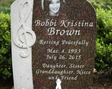 Bobbi Kristina's new headstone
