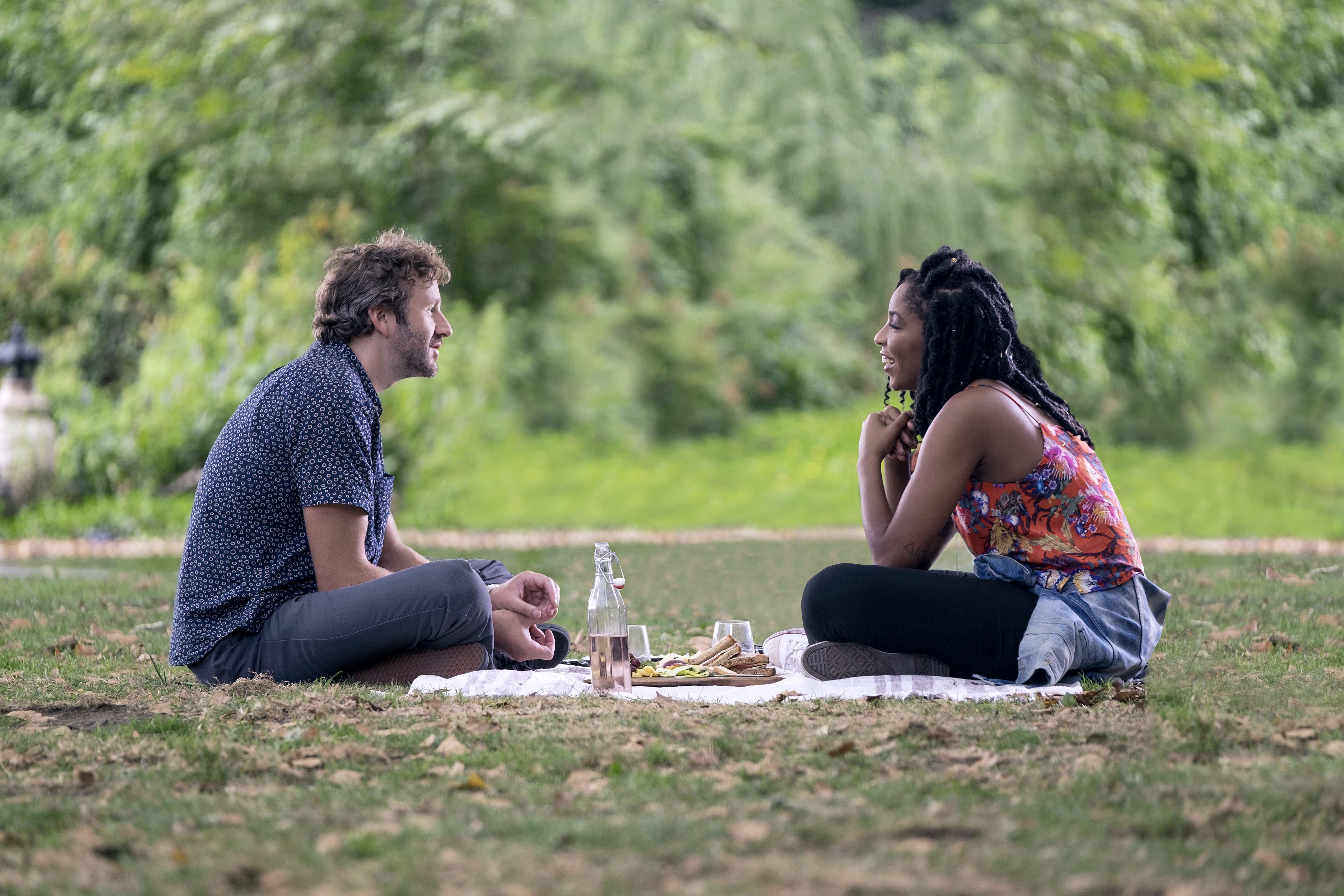 Chris O'Dowd and Jessica Williams in The Incredible Jessica James (Netflix)