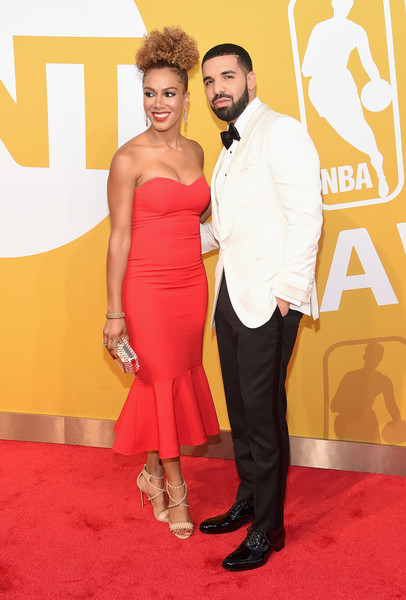 Rosalyn Gold-Onwude and Drake attend the 2017 NBA Awards live on TNT on June 26, 2017 in New York, New York.