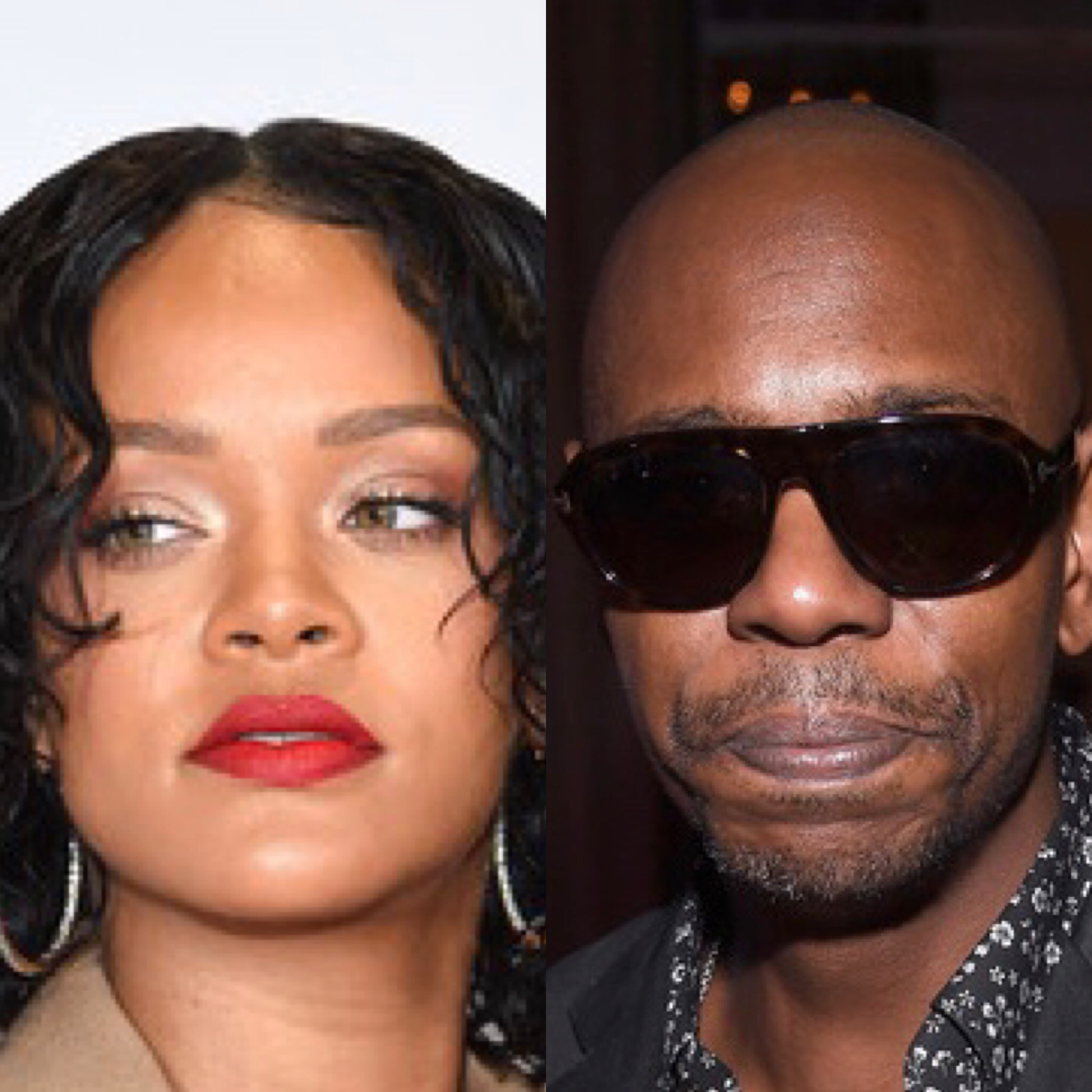 Rihanna and Dave Chappelle