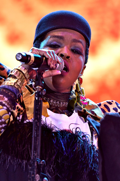 Lauryn Hill performs at the Kaya Fest at Bayfront Park Amphitheater on April 22, 2017 in Miami, Florida.