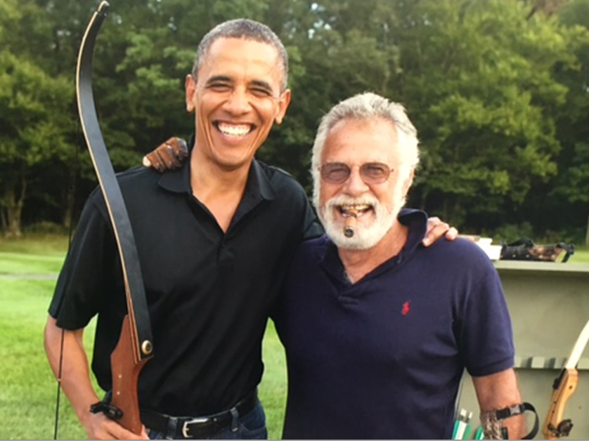President Barack Obama and Jonathan Goldsmith