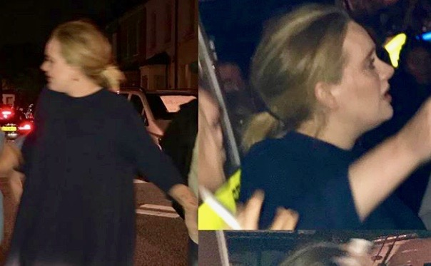 Adele at the scene of the Grenfell Fire in London