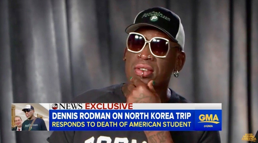 "Dennis Rodman on ""Good Morning America"" (June 23, 2017)"
