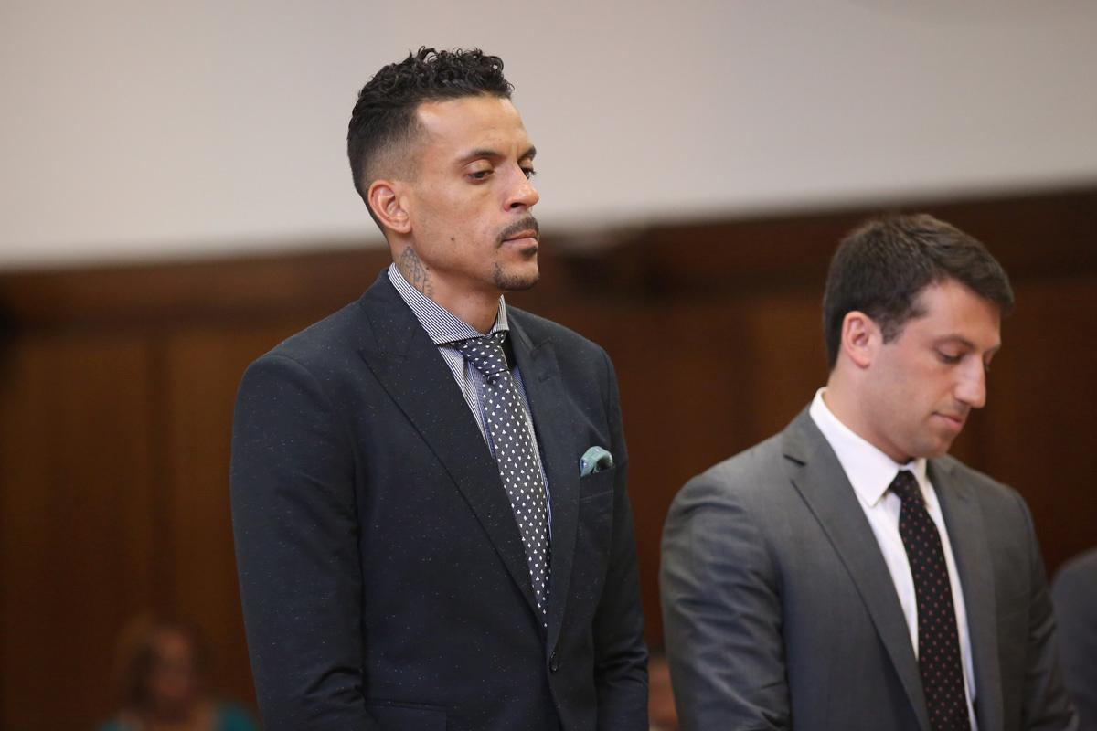 NBA forward Matthew Barnes appears in Manhattan Criminal Court, where he pleaded guilty Tuesday to disorderly conduct. (ALEC TABAK FOR NEW YORK DAILY NEWS)