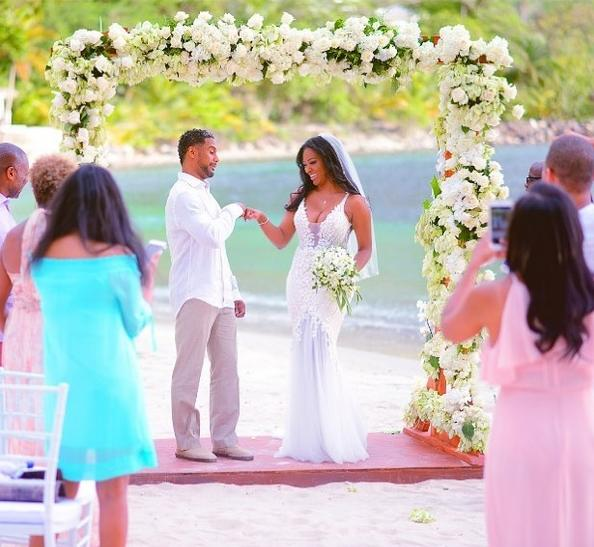 kenya moore & new husband (marc)