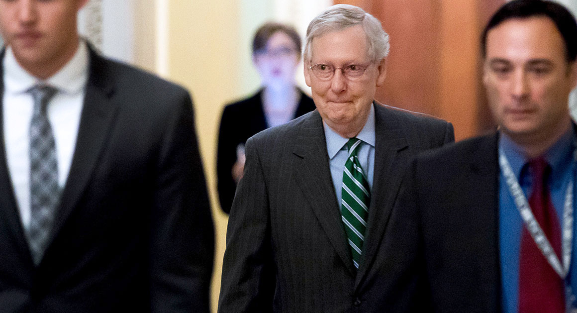 The Senate majority leader, Mitch McConnell of Kentucky, is the chief author of the Senate's health care bill.