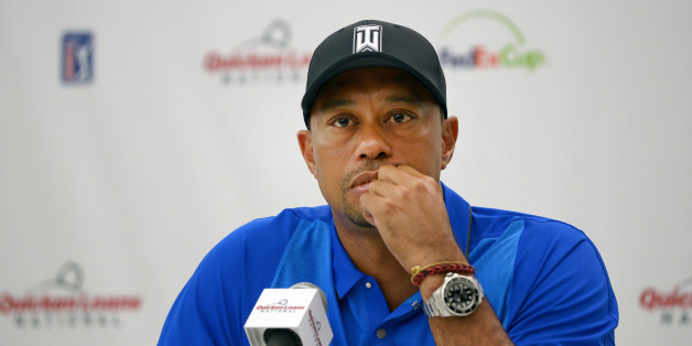 BETHESDA, MD - JUNE 22: Tiger Woods answers questions during his press conference at the Quicken Loans National at Congressional Country Club (Blue) on June 22, 2016 in Bethesda, Maryland. (Photo by Stan Badz/PGA TOUR)