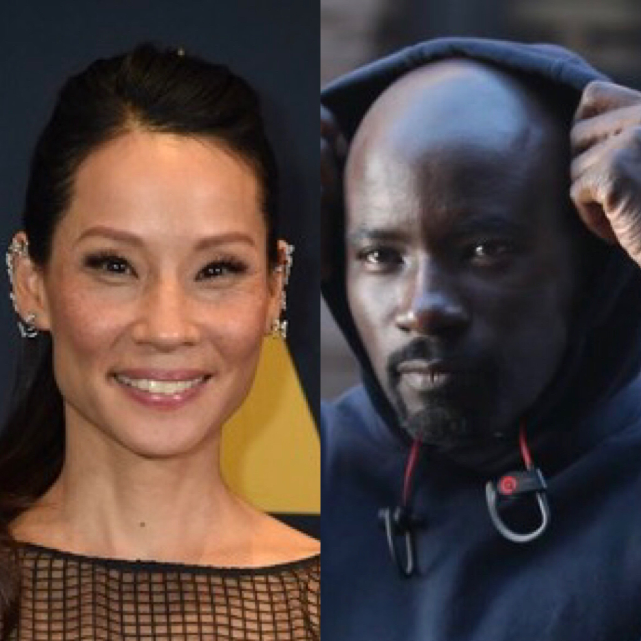 Lucy Liu and Mike Colter as Luke Cage