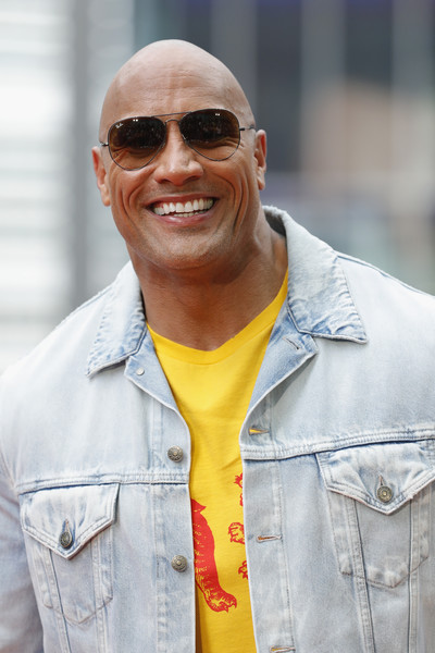 Dwayne Johnson poses at the 'Baywatch' Photo Call at Sony Centre on May 30, 2017 in Berlin, Germany.