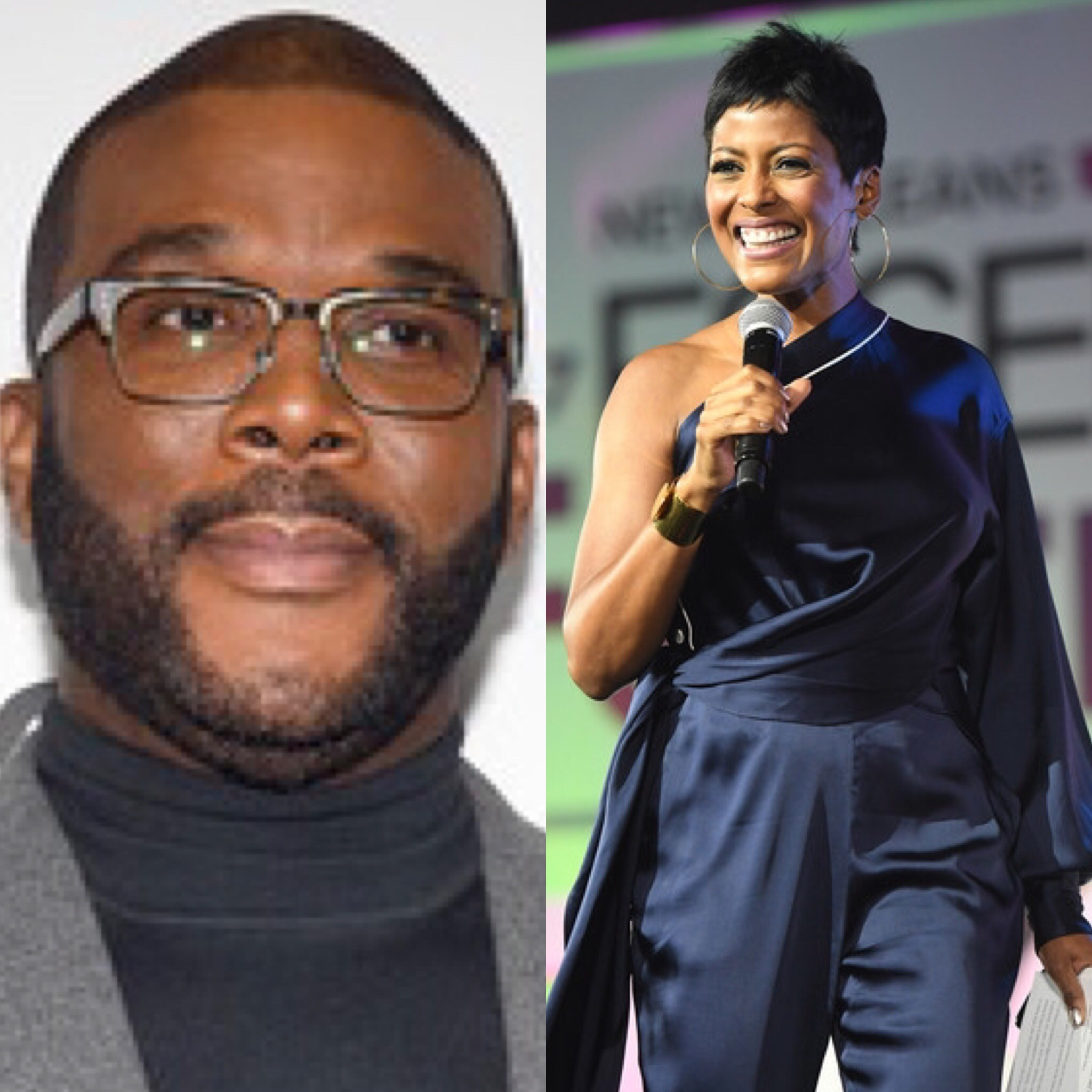 Tyler Perry and Tamron Hall