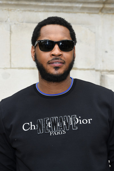 Carmelo Anthony attends the Dior Homme Menswear Spring/Summer 2018 show as part of Paris Fashion Week on June 24, 2017 in Paris, France.