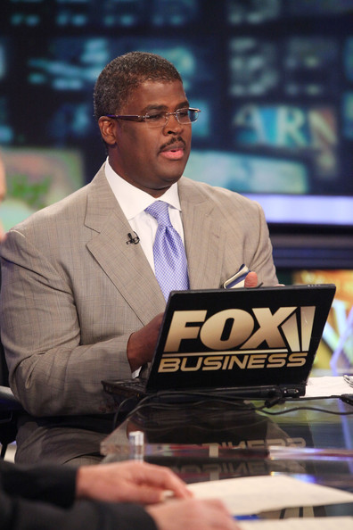 """Varney & Co."" host Charles Payne reports on the stock market opening a day after a 500+ point sell off at FOX Studios on August 5, 2011 in New York City."