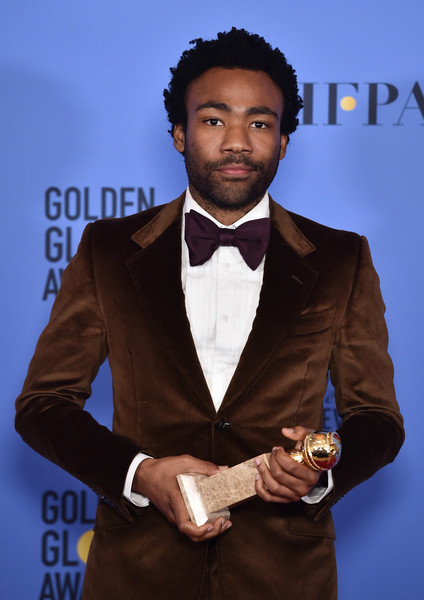 Actor Donald Glover, winner of Best Actor in a Television Series - Musical or Comedy for 'Atlanta,' poses in the press room during the 74th Annual Golden Globe Awards at The Beverly Hilton Hotel on January 8, 2017 in Beverly Hills, California.