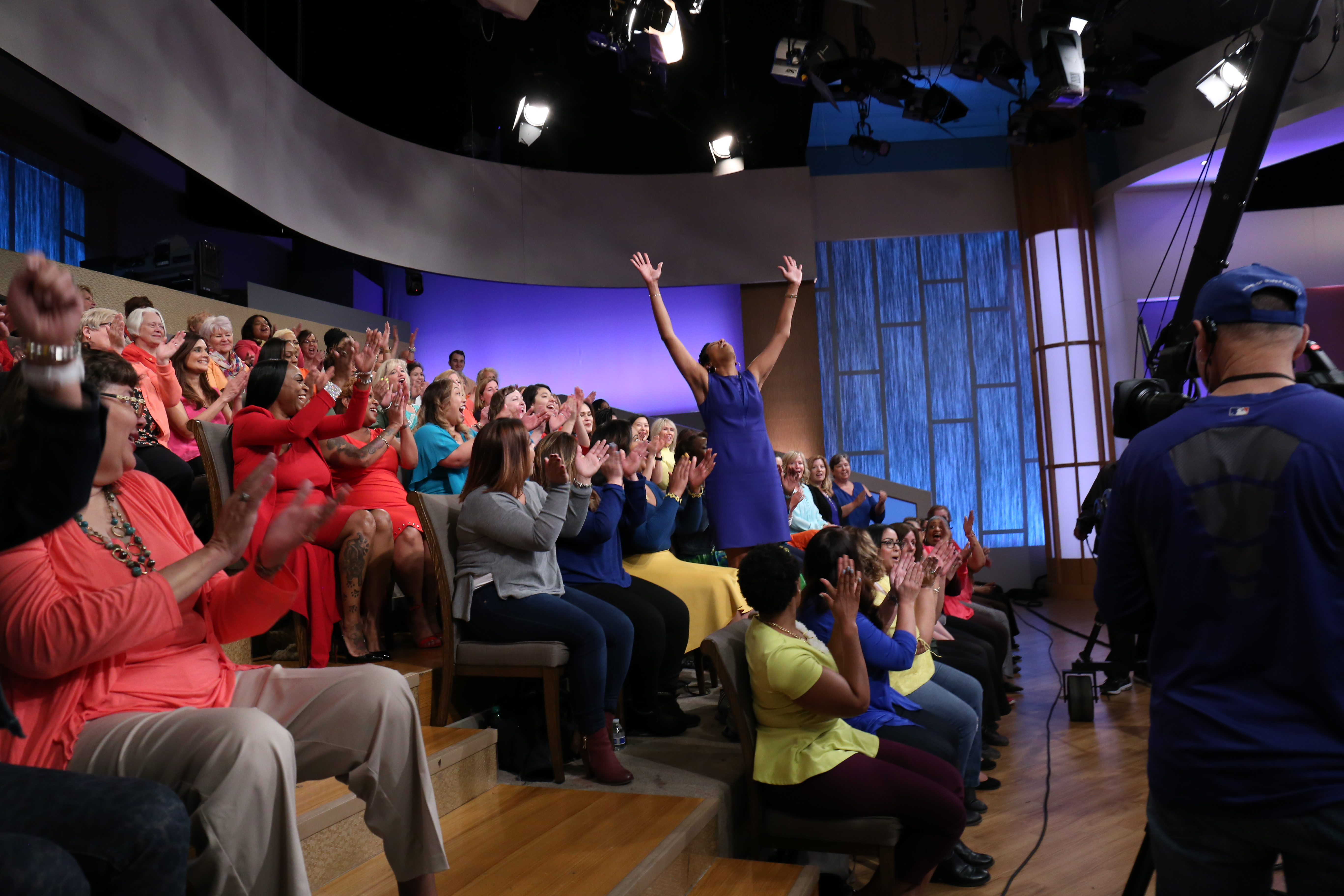 Kidada Brown at the Steve Harvey Show