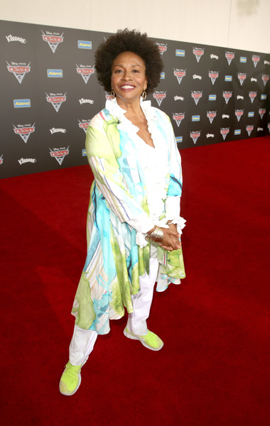 "Actor Jenifer Lewis poses at the World Premiere of Disney/Pixar's ""Cars 3"" at the Anaheim Convention Center on June 10, 2017 in Anaheim, California."