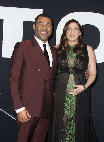 """Director Jordan Peele (L) and actress Chelsea Peretti attend the Universal Pictures Special Screening of """"Get Out"""", in Los Angeles, California, on February 10, 2017. / AFP / VALERIE MACON"""